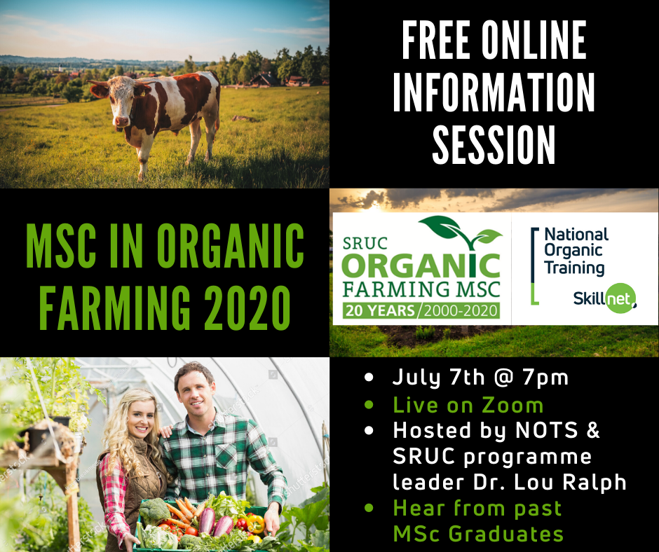 Free Information Event - MSc in Organic Farming provided by NOTS.ie